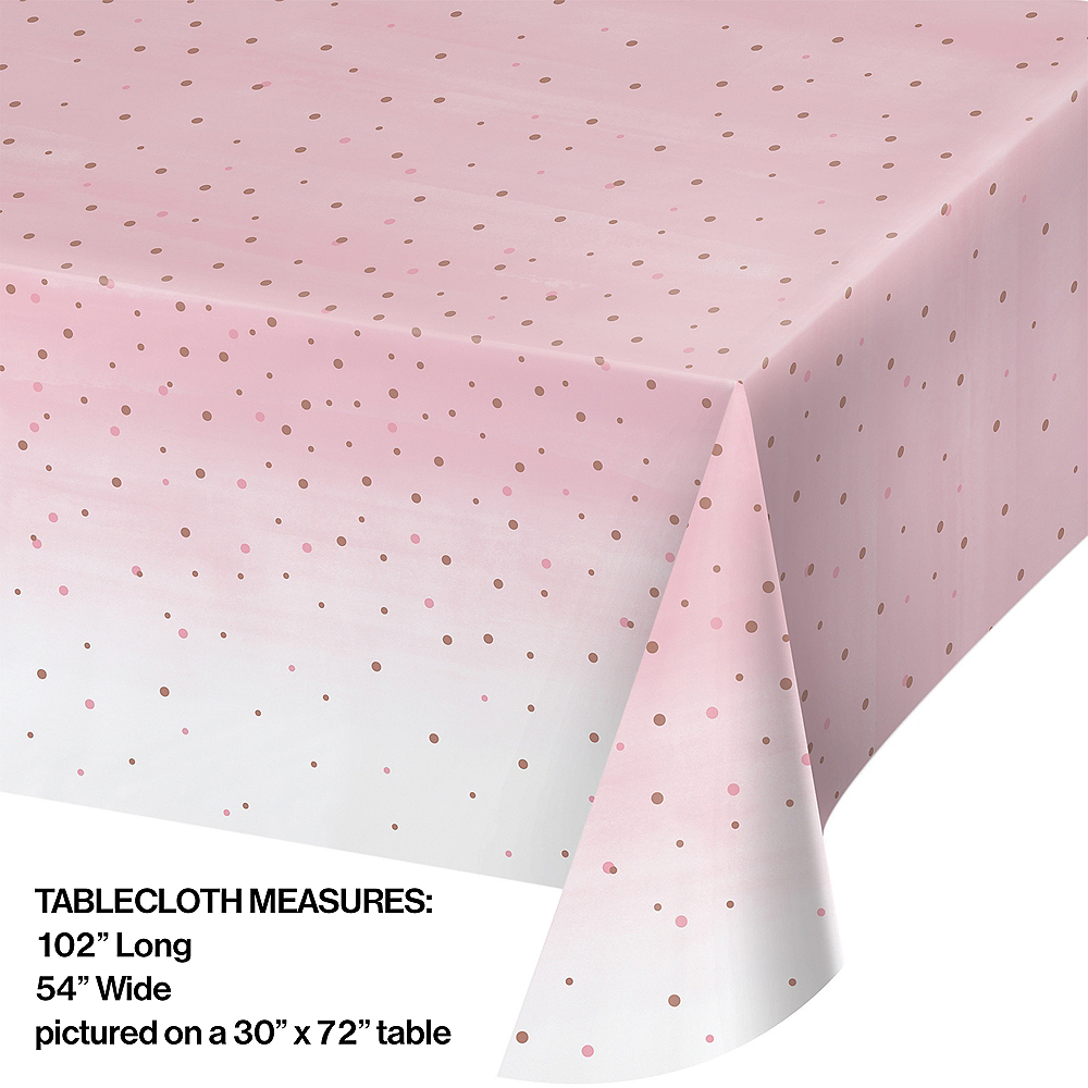 Rosé All Day Plastic Table Cover Image #2