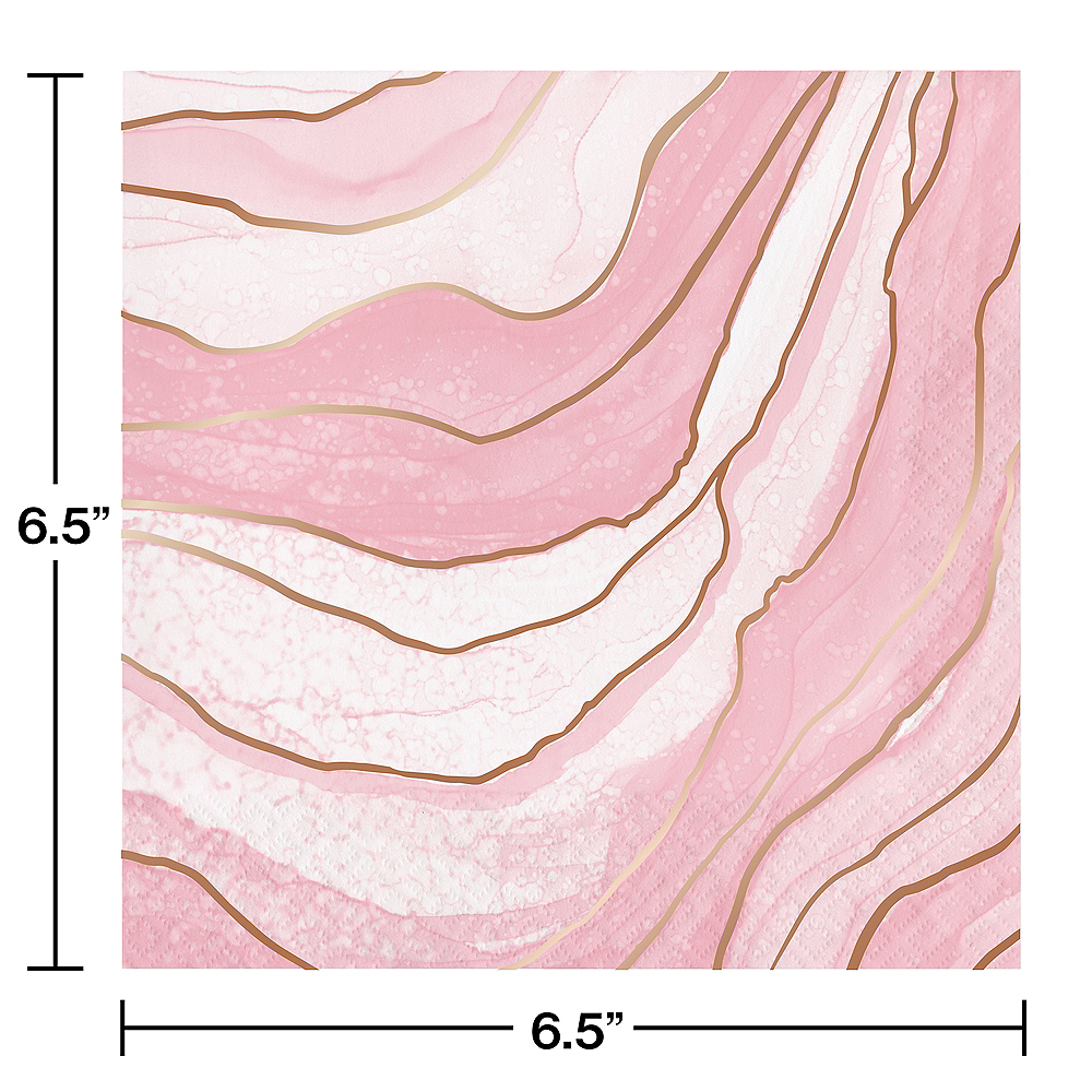 Rosé All Day Geode Lunch Napkins 16ct Image #2