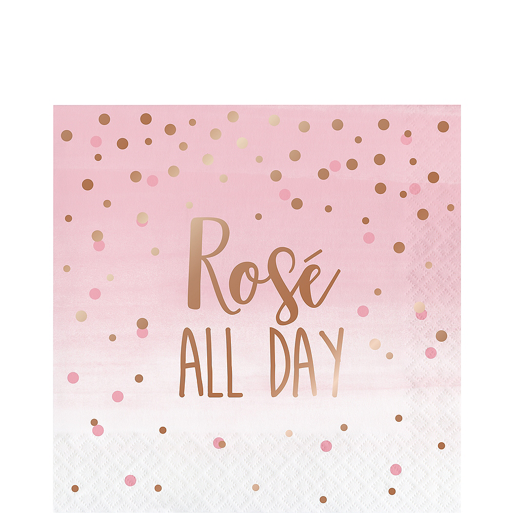 Rosé All Day Lunch Napkins 16ct Image #1