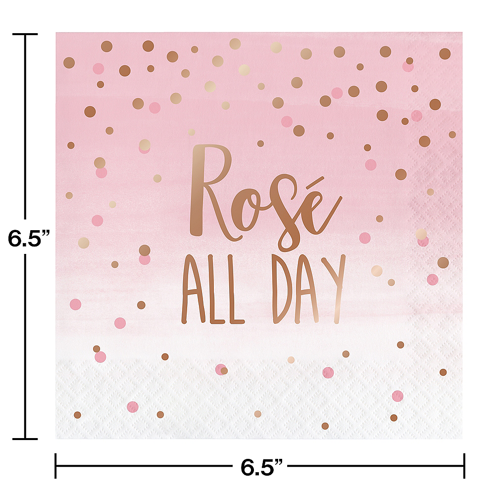 Rosé All Day Lunch Napkins 16ct Image #2