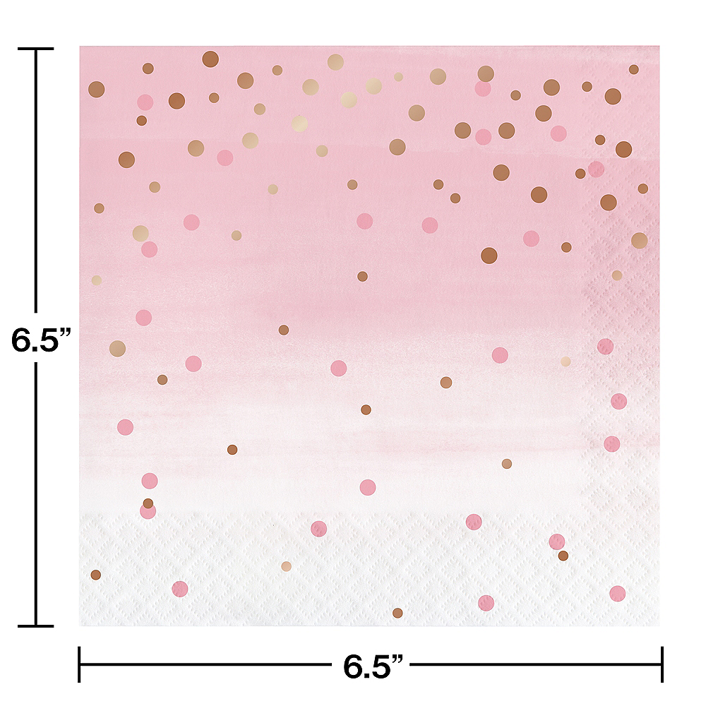 Rosé All Day Dots Lunch Napkins 16ct Image #2