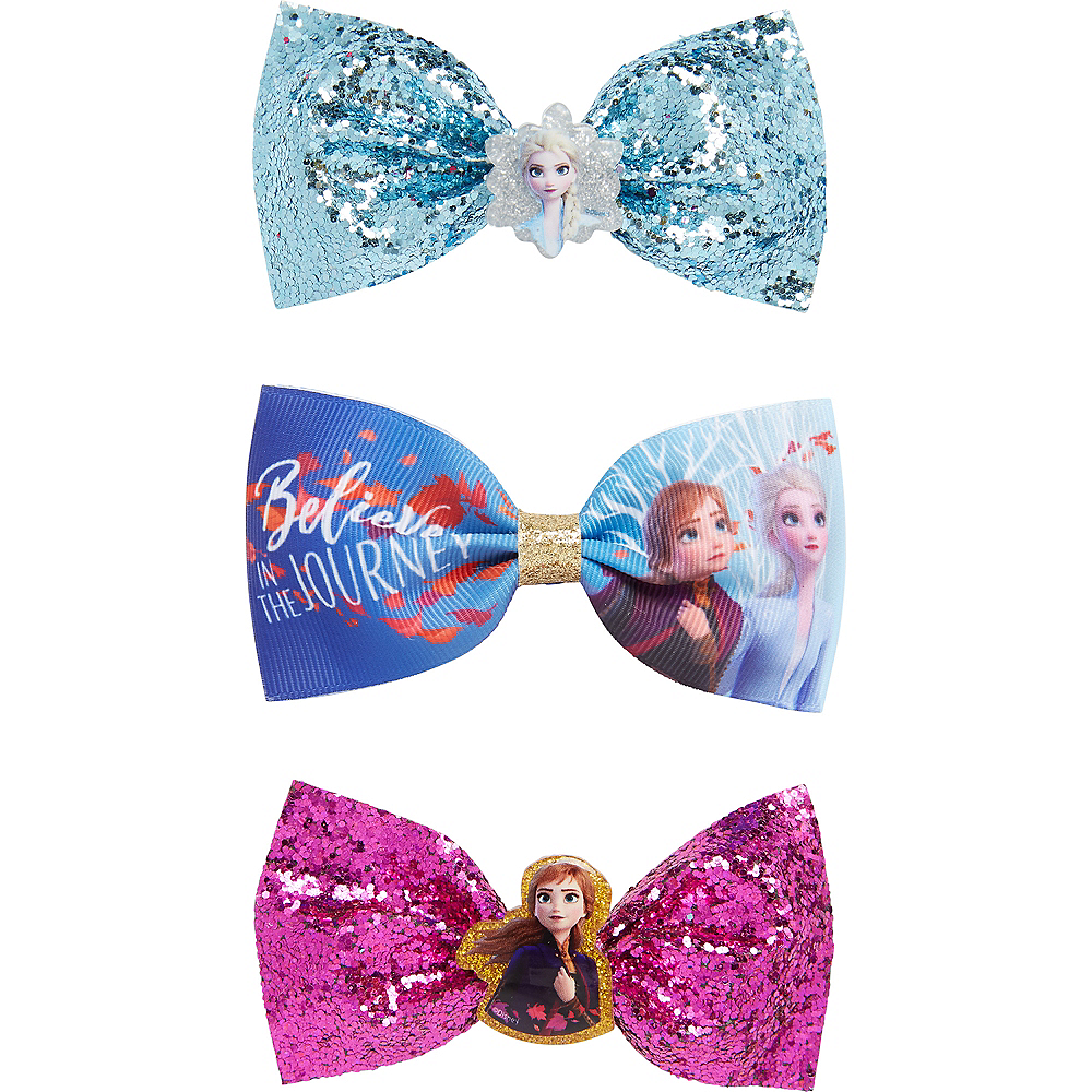 Frozen 2 Hair Bows 3ct Image #1