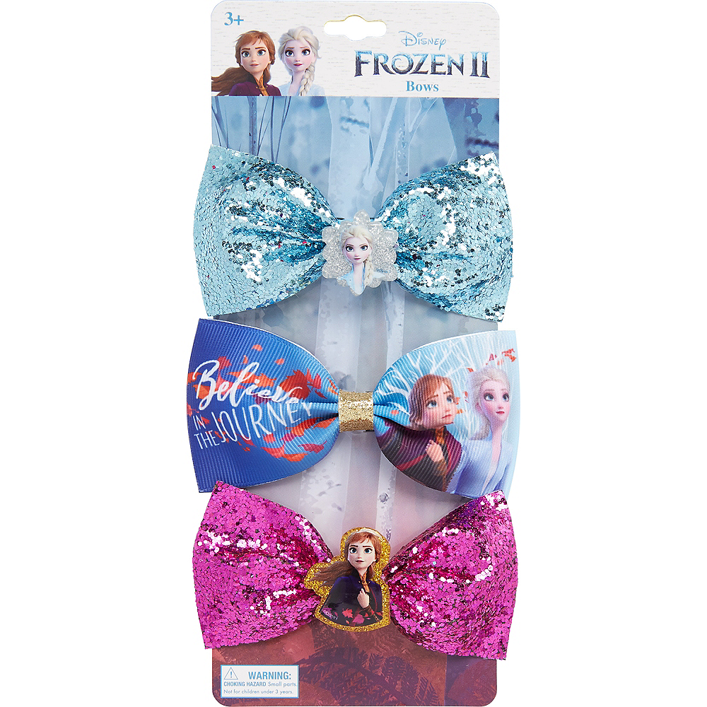 Frozen 2 Hair Bows 3ct Image #2