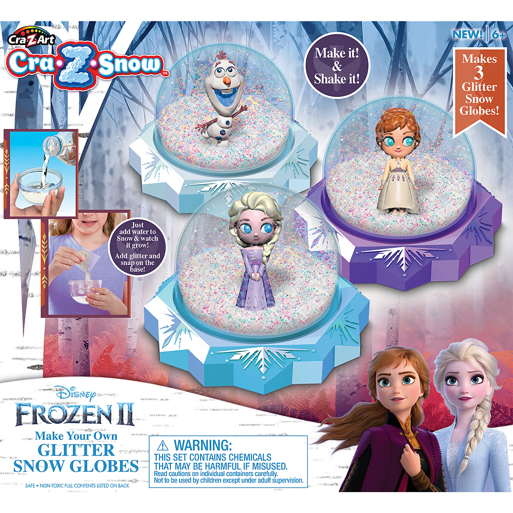 Make-Your-Own Frozen 2 Glitter Snow Globe Image #1
