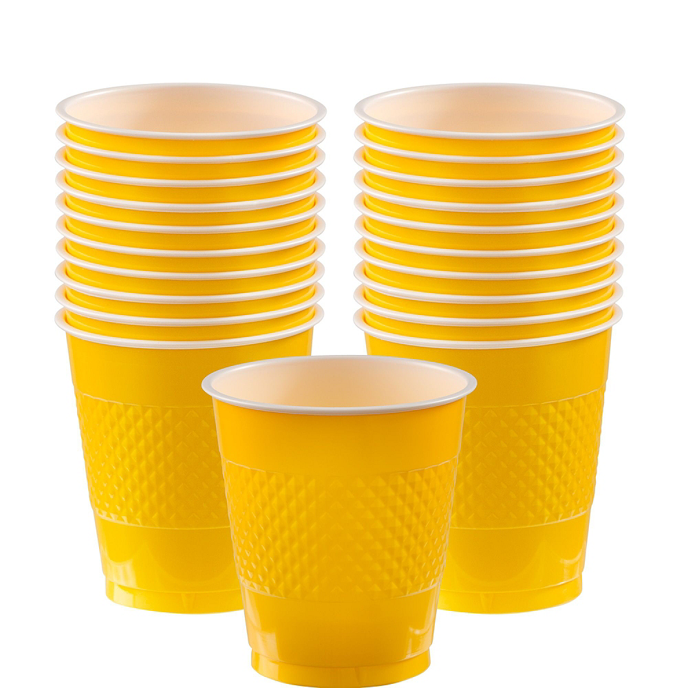 Yellow Polka Dot Tableware Kit for 16 Guests Image #6
