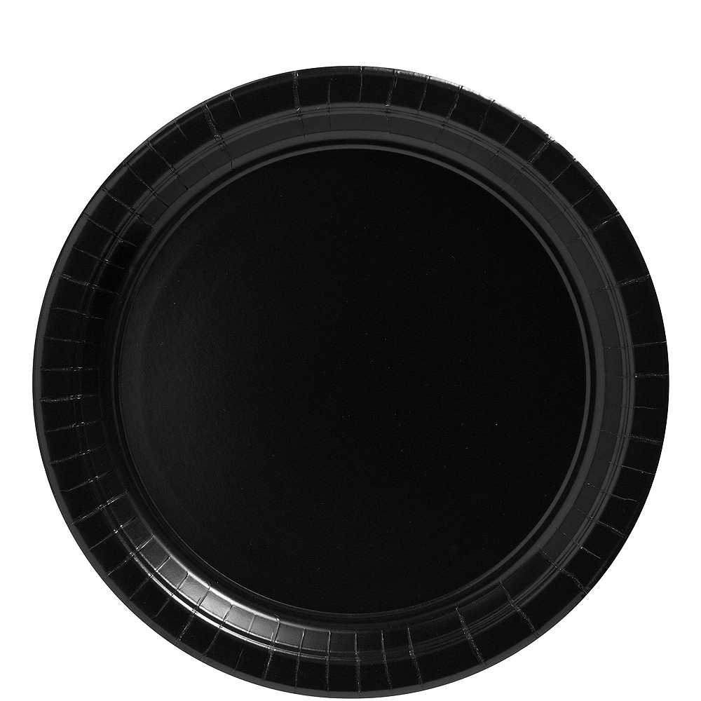 Black Polka Dot Tableware Kit for 16 Guests Image #3