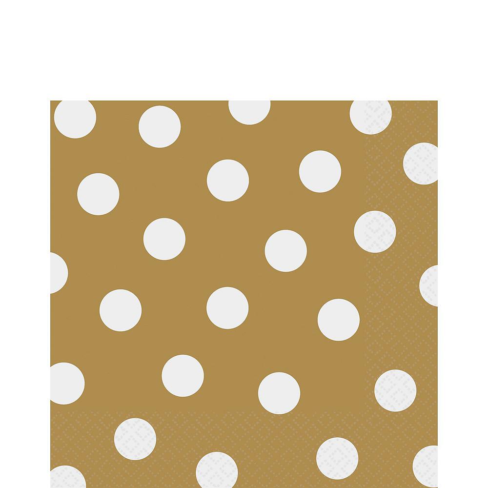 Gold Polka Dot Tableware Kit for 16 Guests Image #5