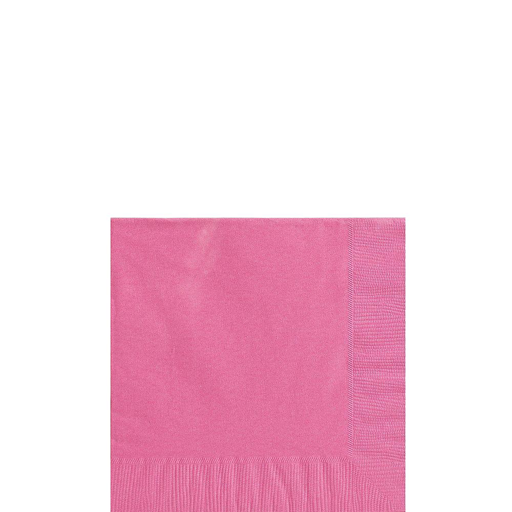 Bright Pink Polka Dot Tableware Kit for 16 Guests Image #4