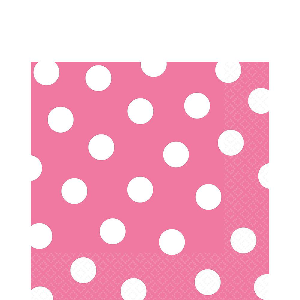 Bright Pink Polka Dot Tableware Kit for 16 Guests Image #5
