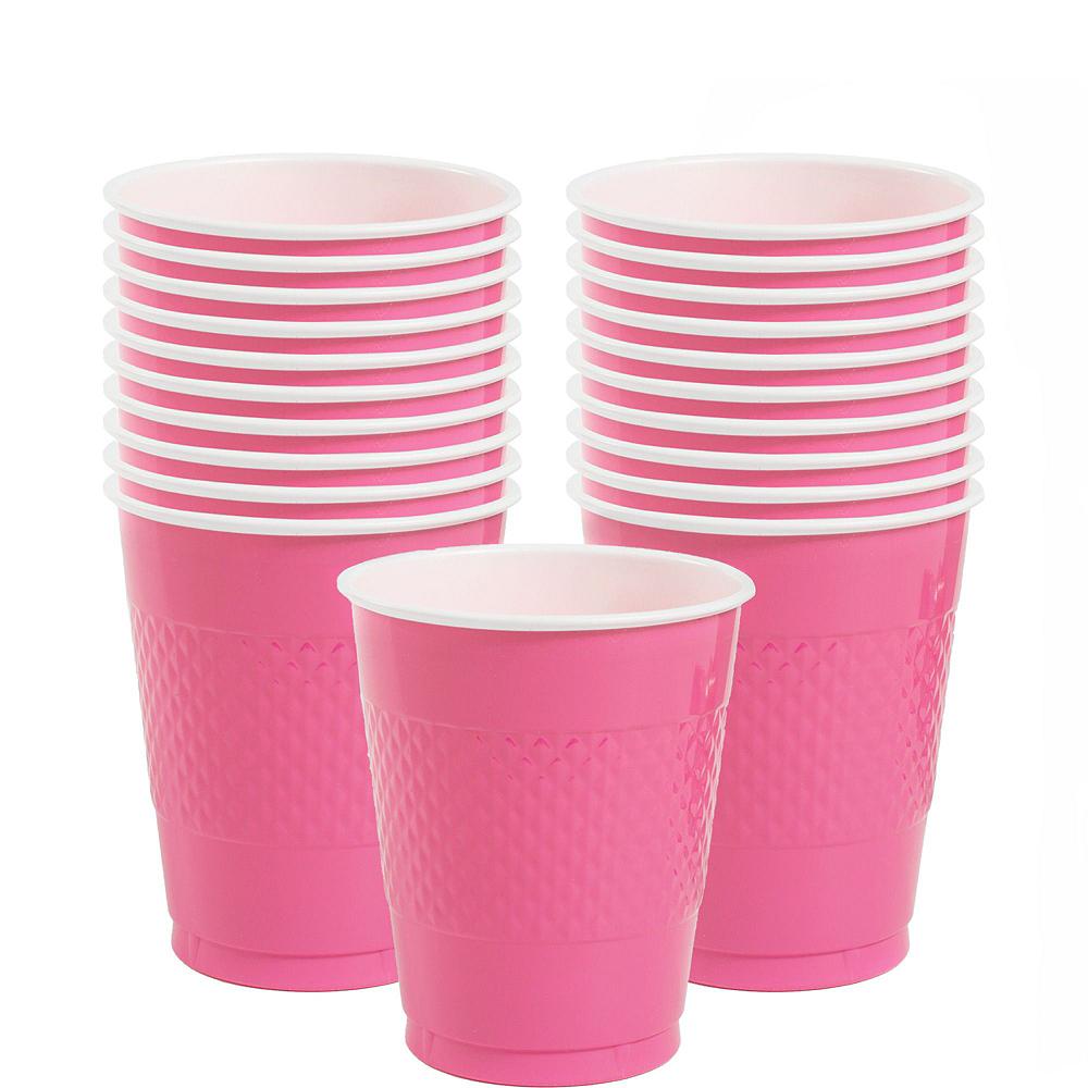 Bright Pink Polka Dot Tableware Kit for 16 Guests Image #6