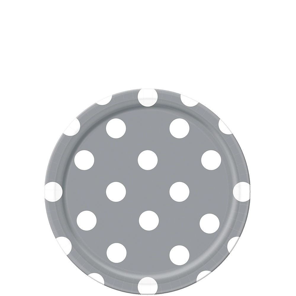 Silver Polka Dot Tableware Kit for 16 Guests Image #2
