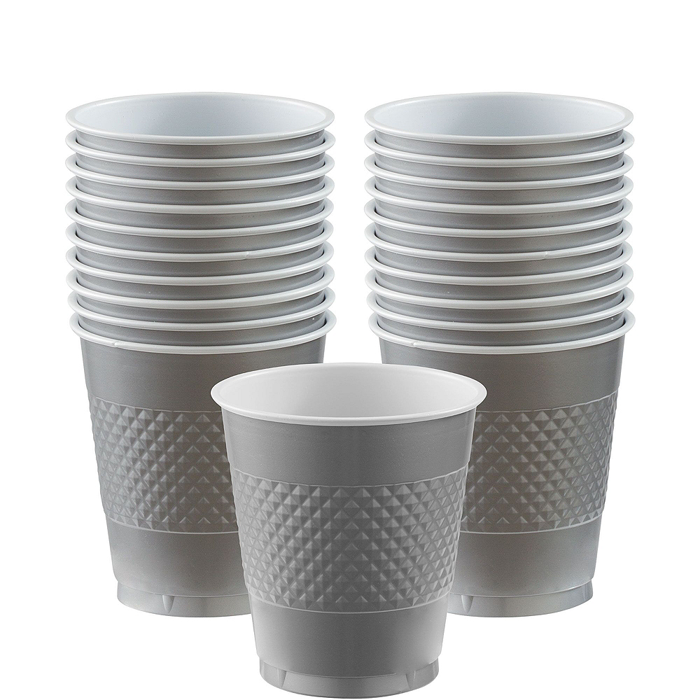 Silver Polka Dot Tableware Kit for 16 Guests Image #6