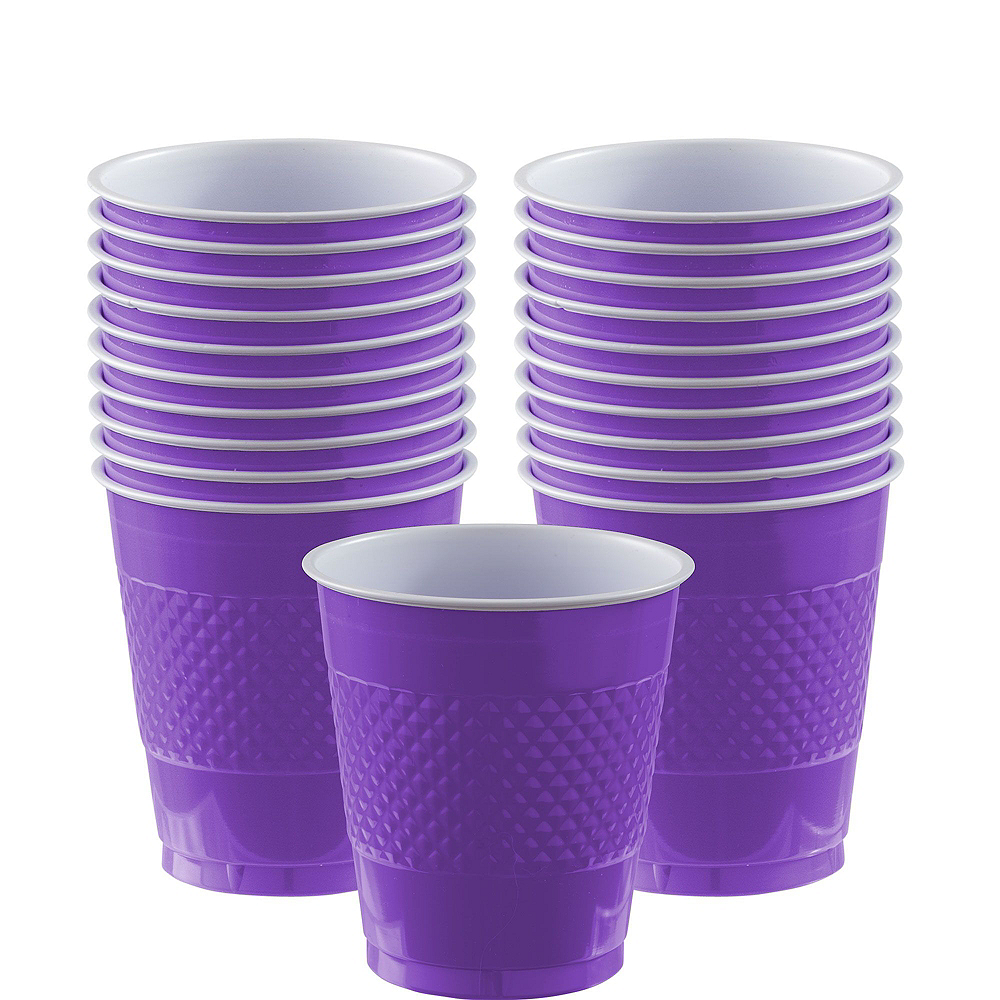 Purple Polka Dot Tableware Kit for 16 Guests Image #5