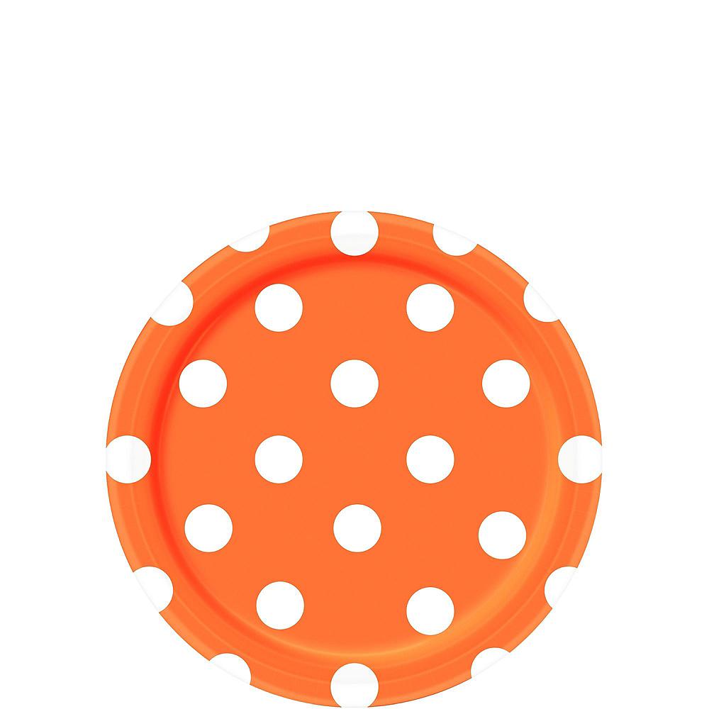 Orange Polka Dot Tableware Kit for 16 Guests Image #2