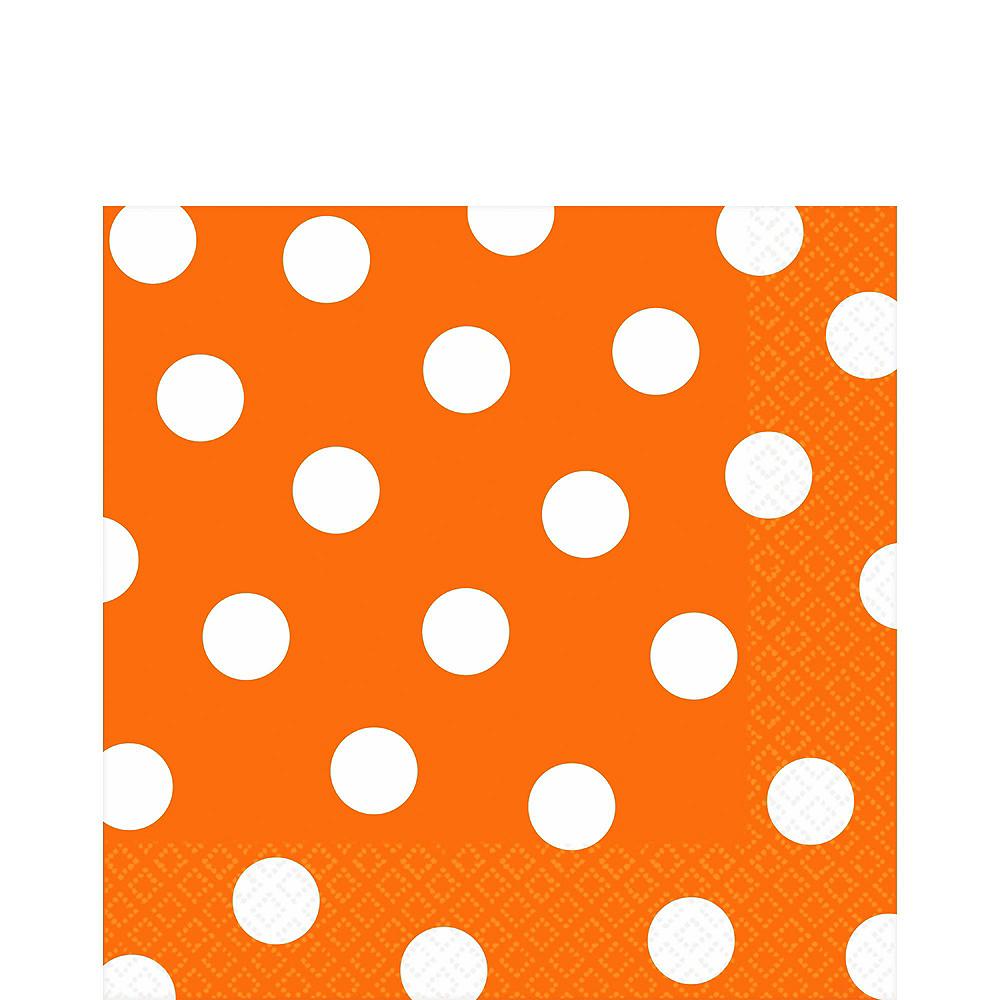 Orange Polka Dot Tableware Kit for 16 Guests Image #5
