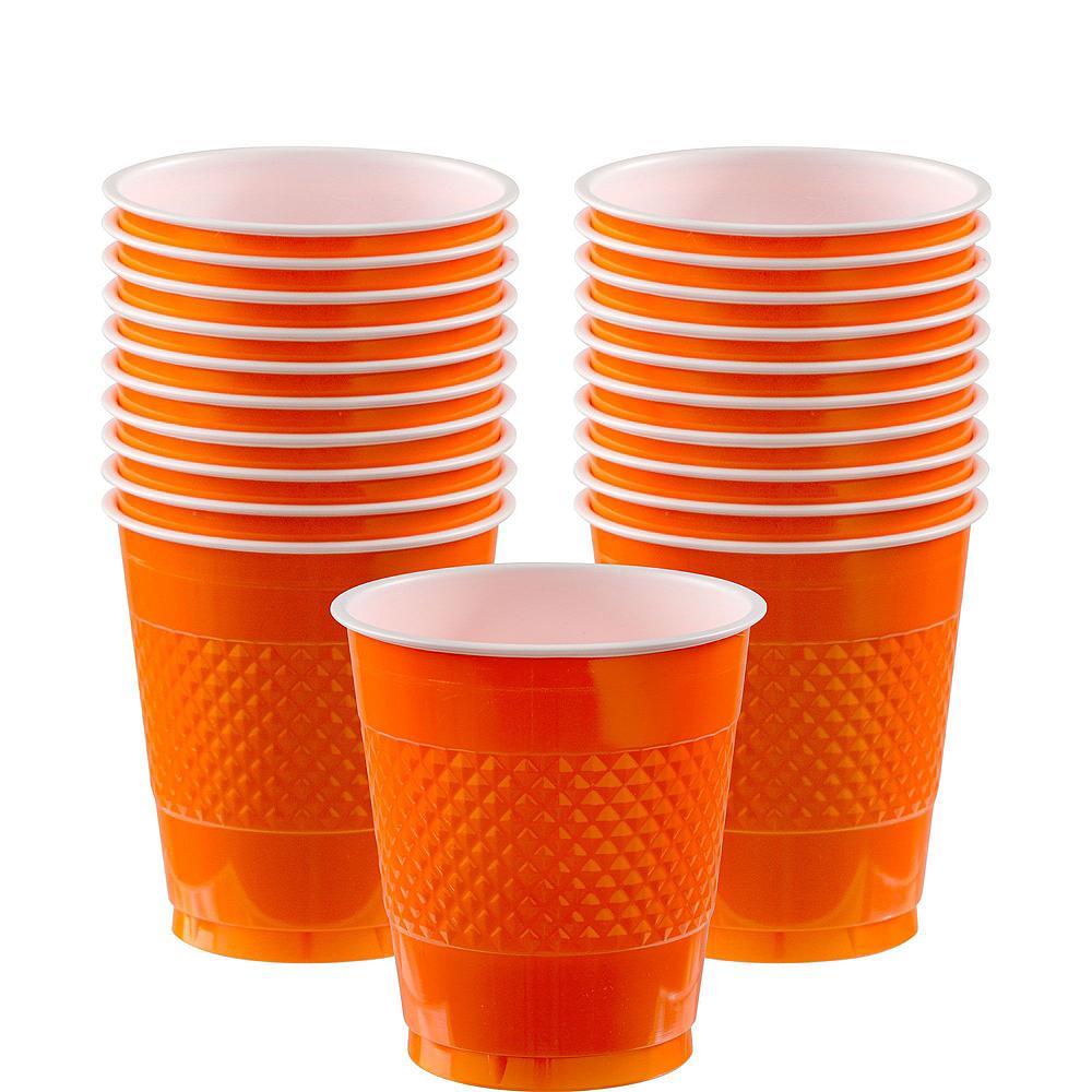 Orange Polka Dot Tableware Kit for 16 Guests Image #6