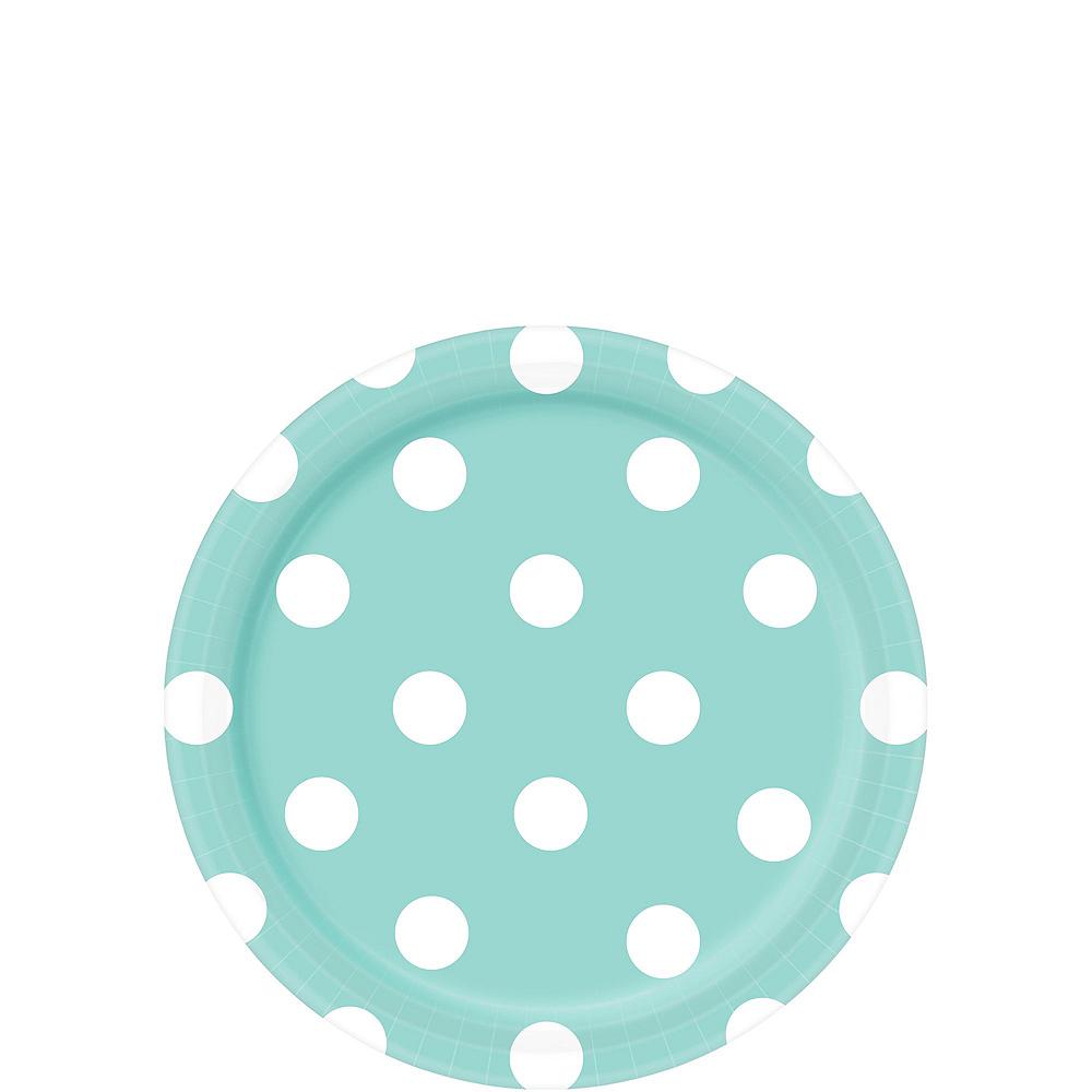 Robin's Egg Blue Polka Dot Tableware Kit for 16 Guests Image #2