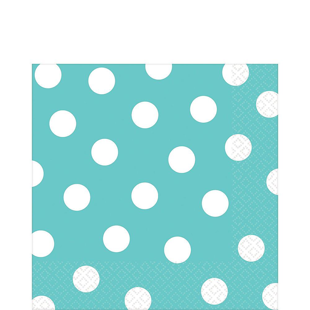 Robin's Egg Blue Polka Dot Tableware Kit for 16 Guests Image #5