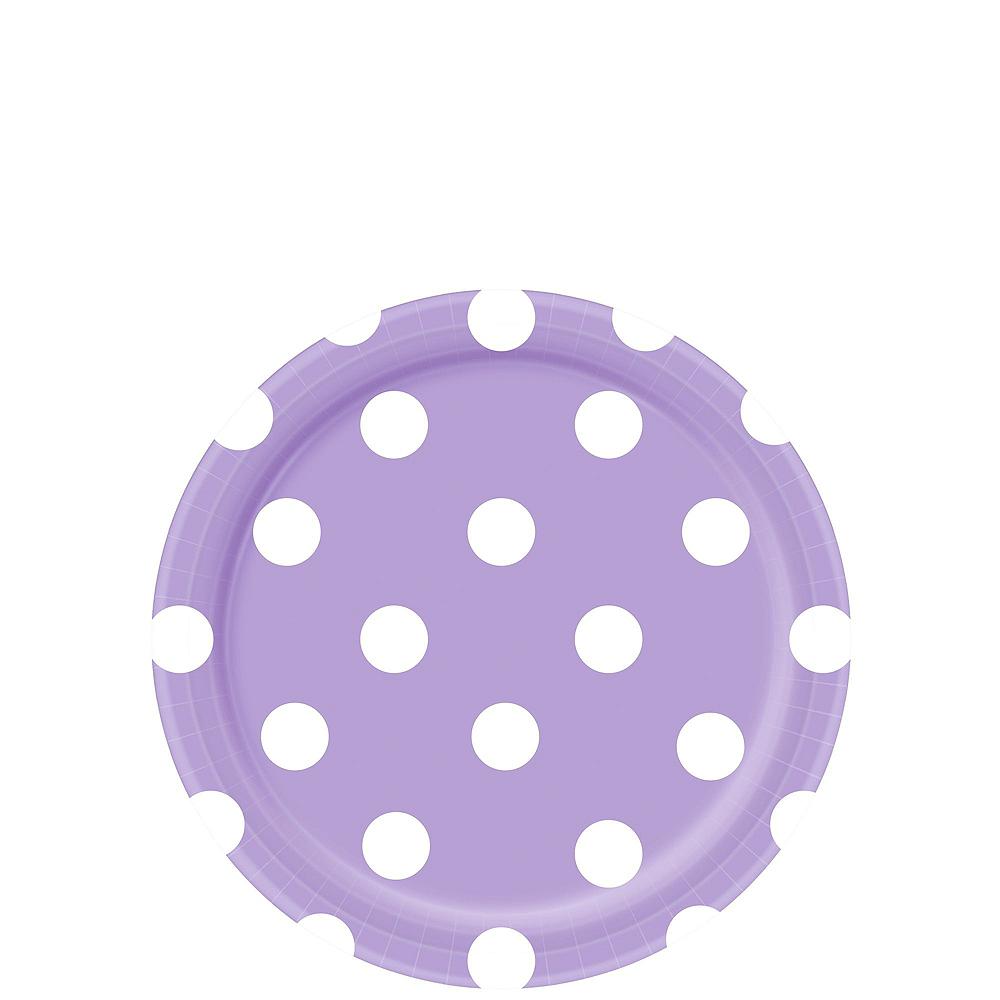 Lavender Polka Dot Tableware Kit for 16 Guests Image #2