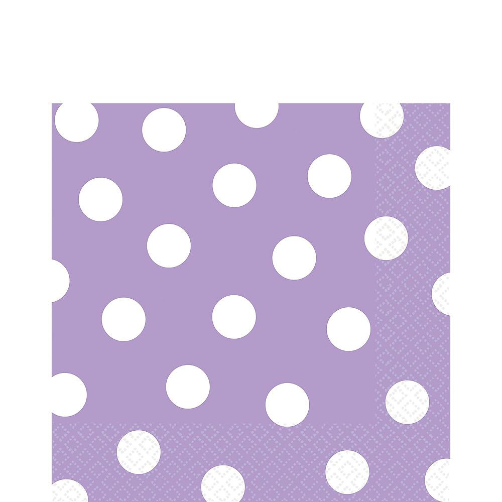 Lavender Polka Dot Tableware Kit for 16 Guests Image #5