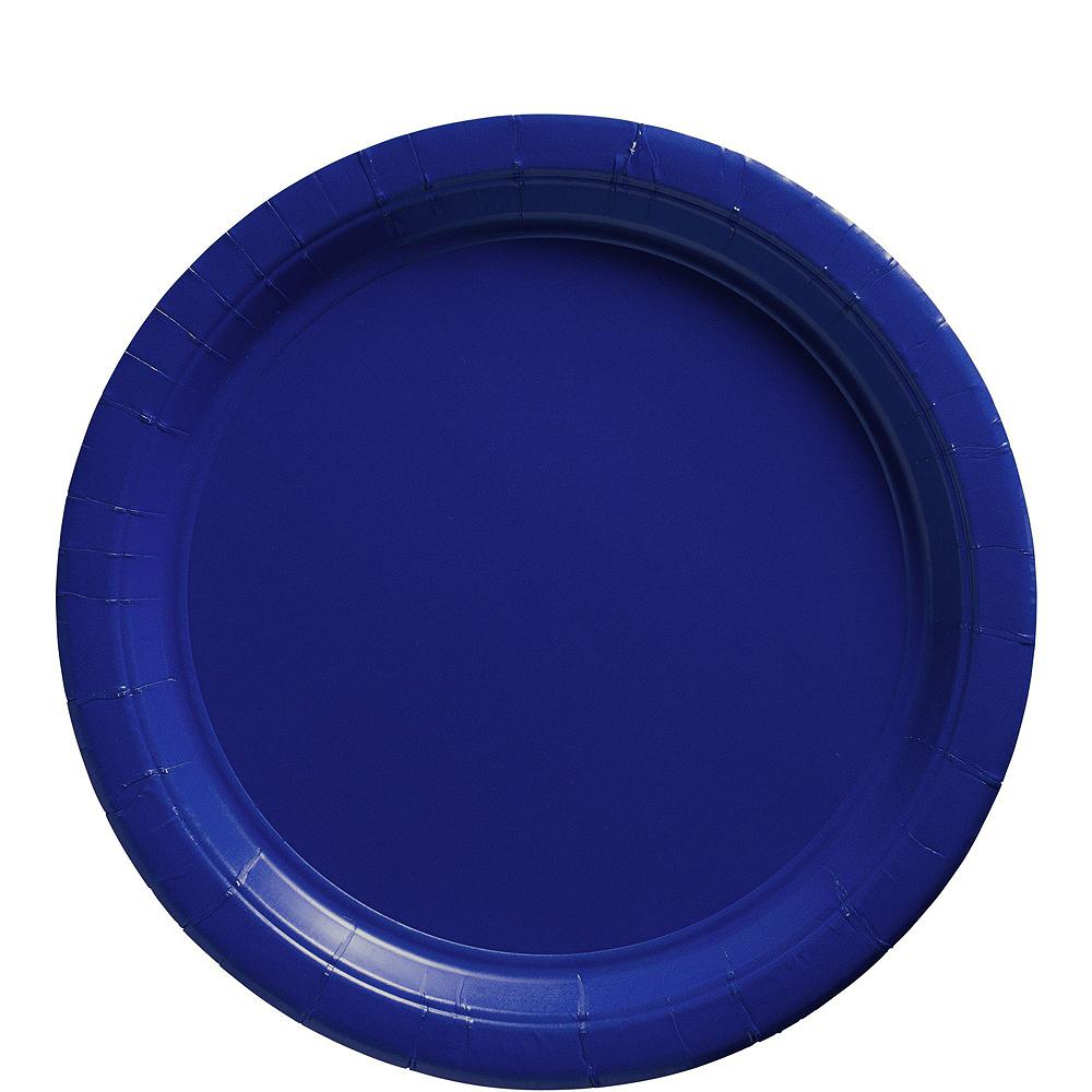 Royal Blue Polka Dot Tableware Kit for 16 Guests Image #3