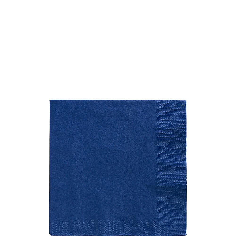 Royal Blue Polka Dot Tableware Kit for 16 Guests Image #4