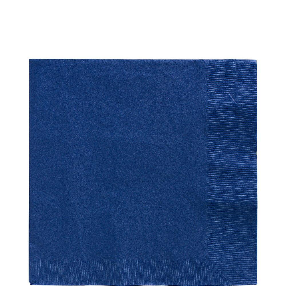 Royal Blue Polka Dot Tableware Kit for 16 Guests Image #5