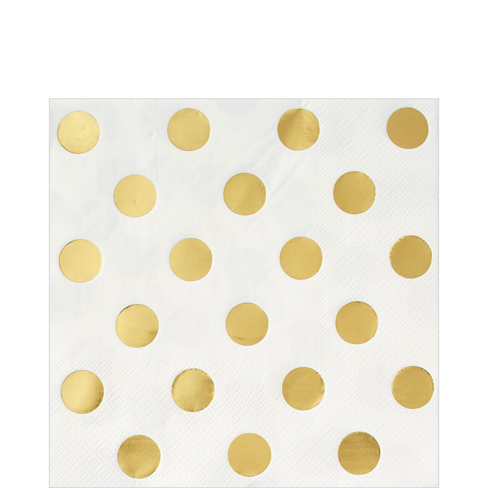 Metallic Gold Polka Dot Tableware Kit for 16 Guests Image #5