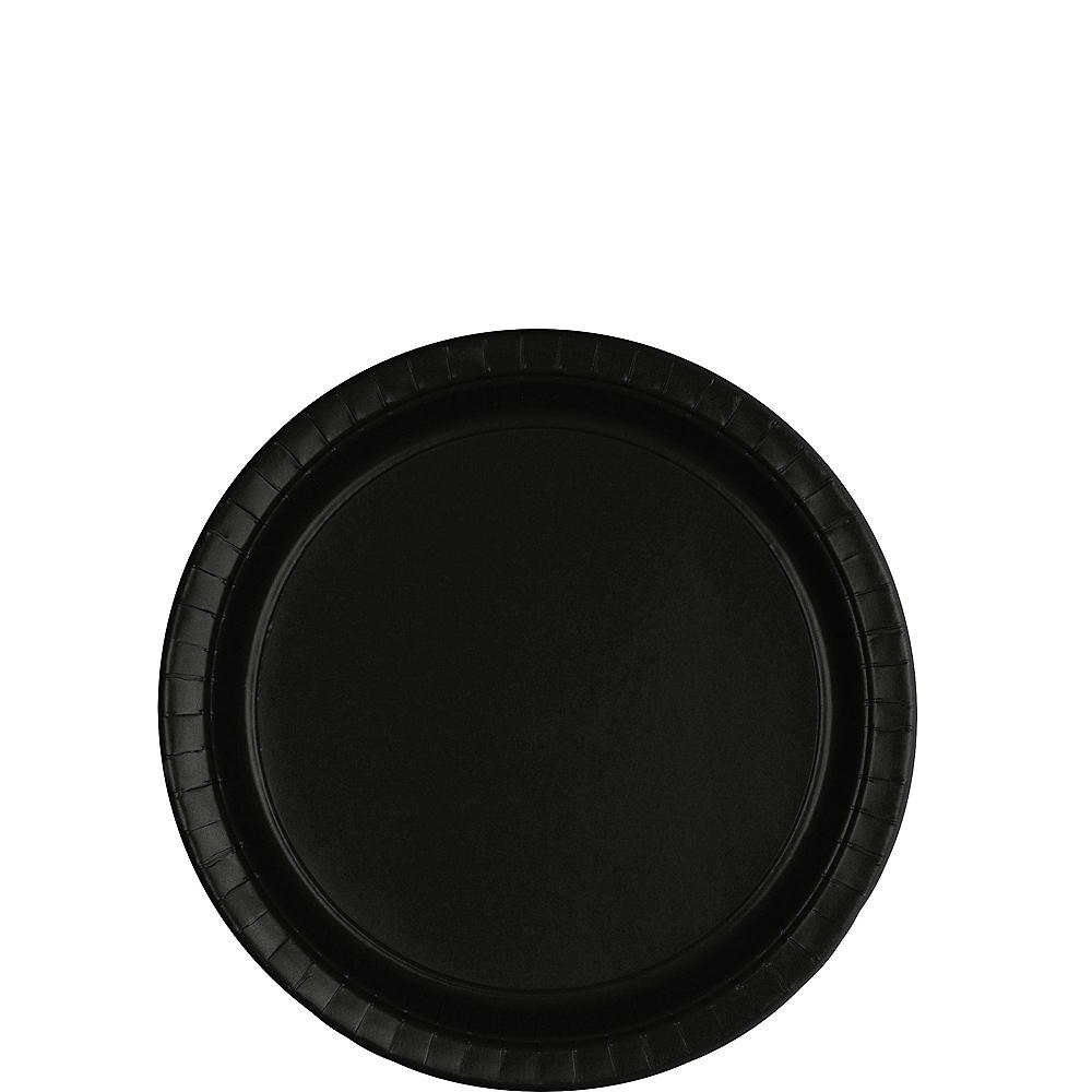 Black Paper Dessert Plates 80ct Image #1