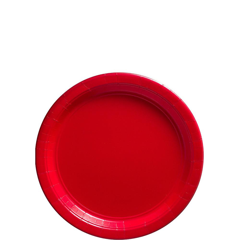 Red Paper Dessert Plates 80ct Image #1