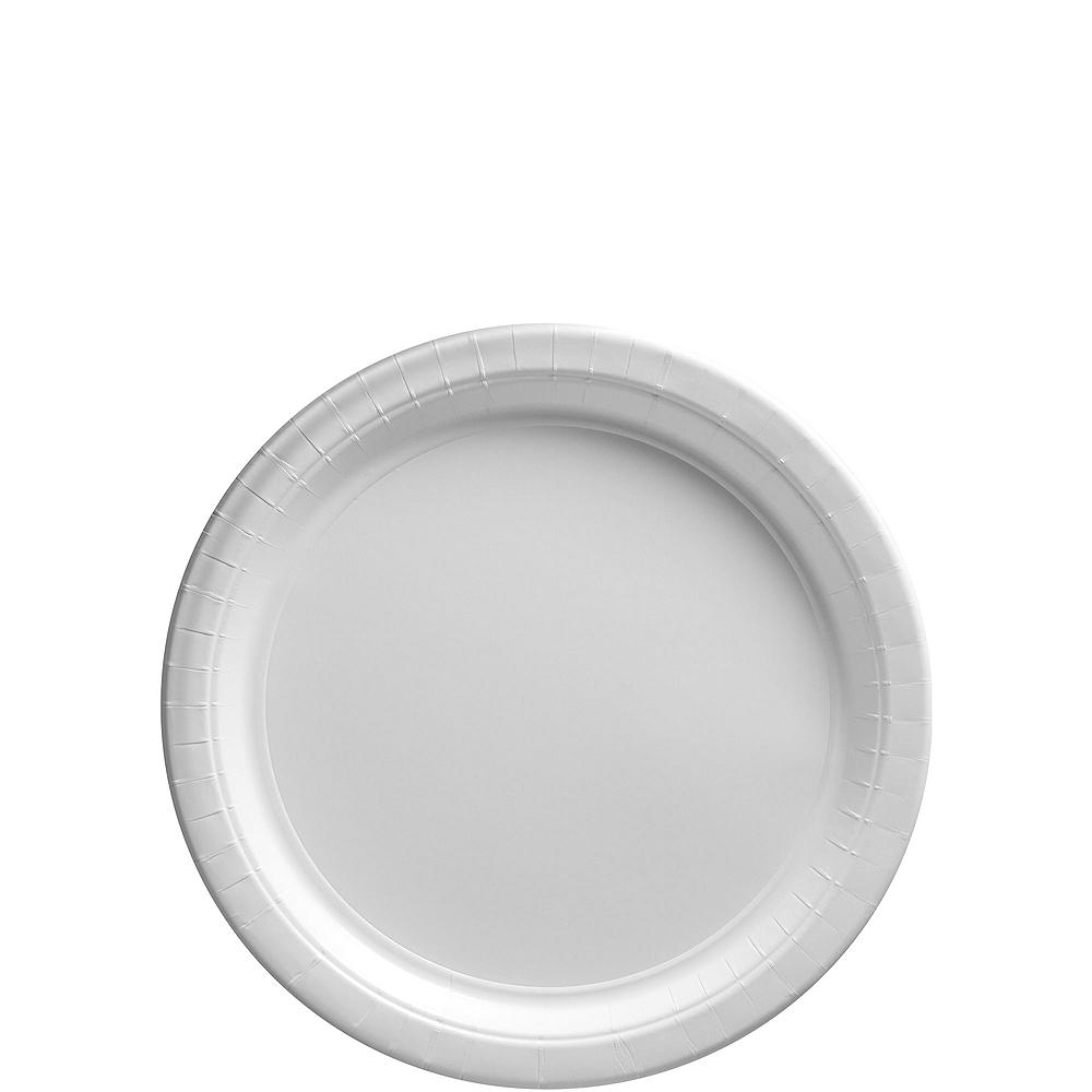 White Paper Dessert Plates 80ct Image #1