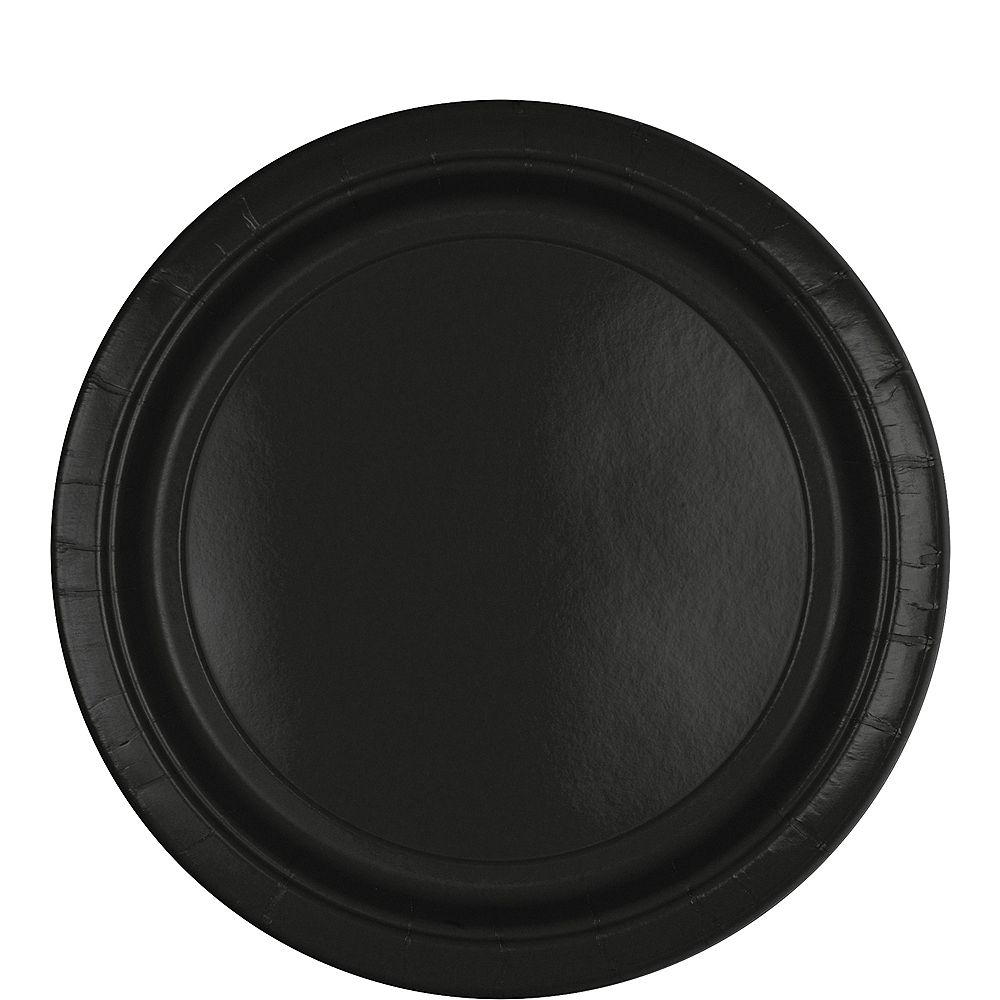 Black Paper Lunch Plates 80ct Image #1