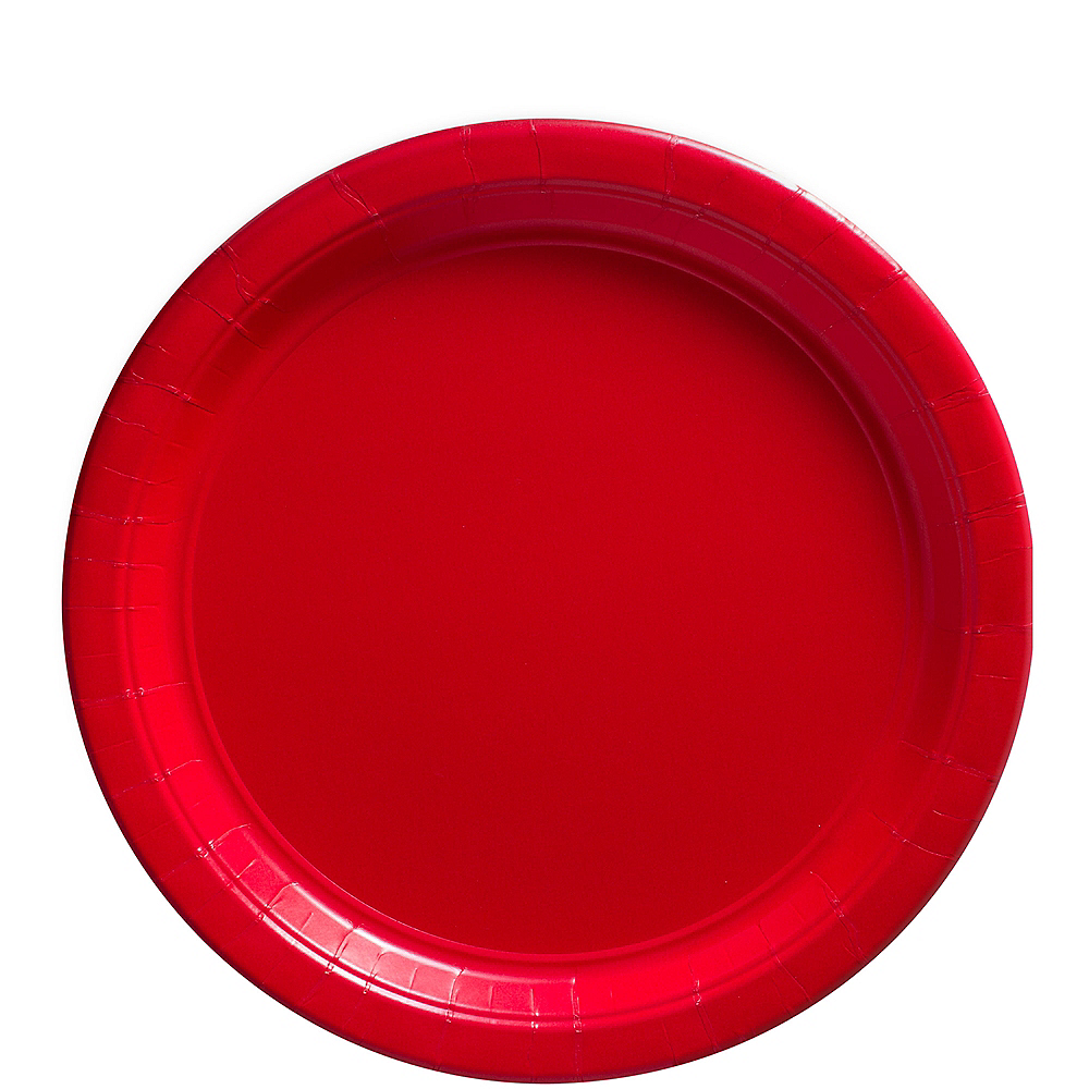 Red Paper Lunch Plates 80ct Image #1