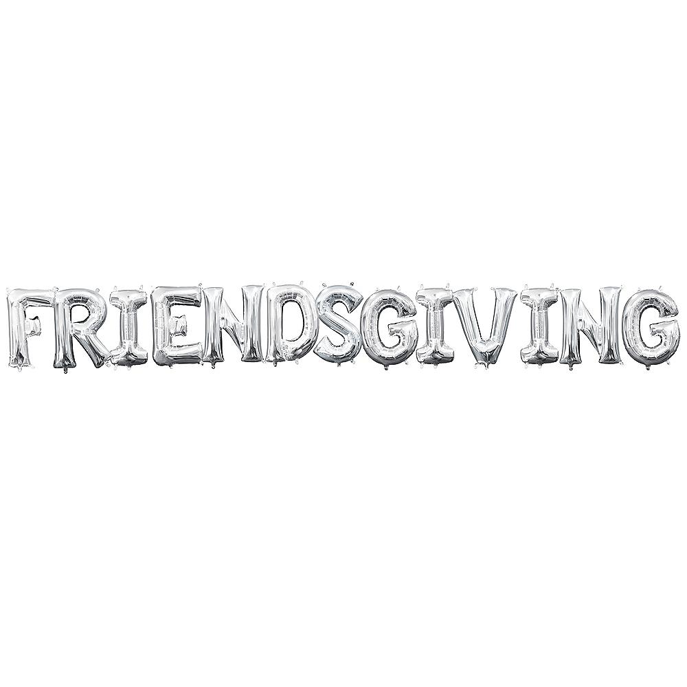 Air-Filled Silver Friendsgiving Balloon Kit Image #1