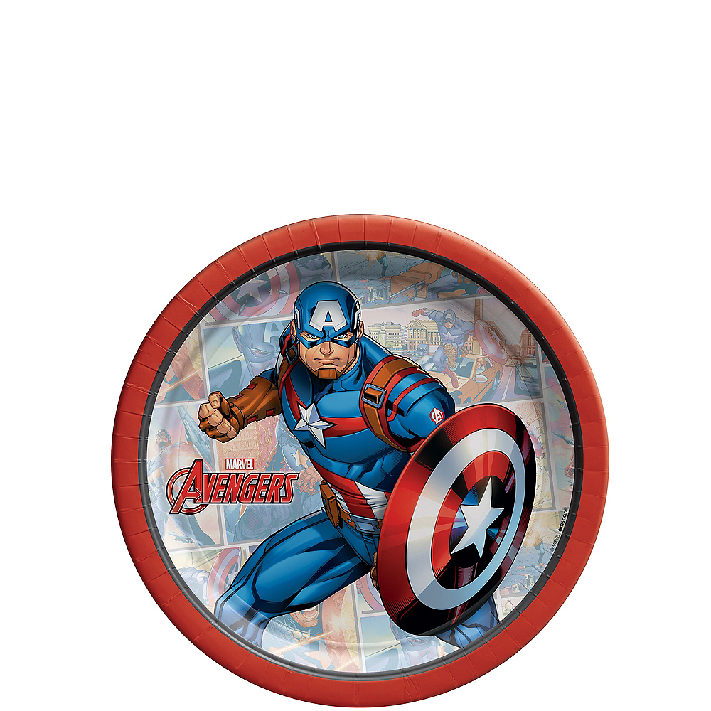 Marvel Powers Unite Captain America Dessert Plates 8ct Image #1