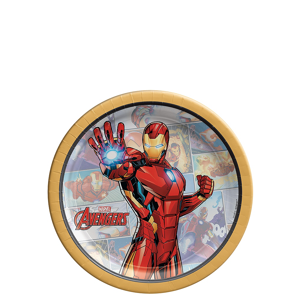 Marvel Powers Unite Iron Man Dessert Plates 8ct Image #1
