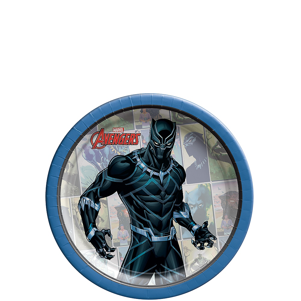 Marvel Powers Unite Black Panther Dessert Plates 8ct Image #1