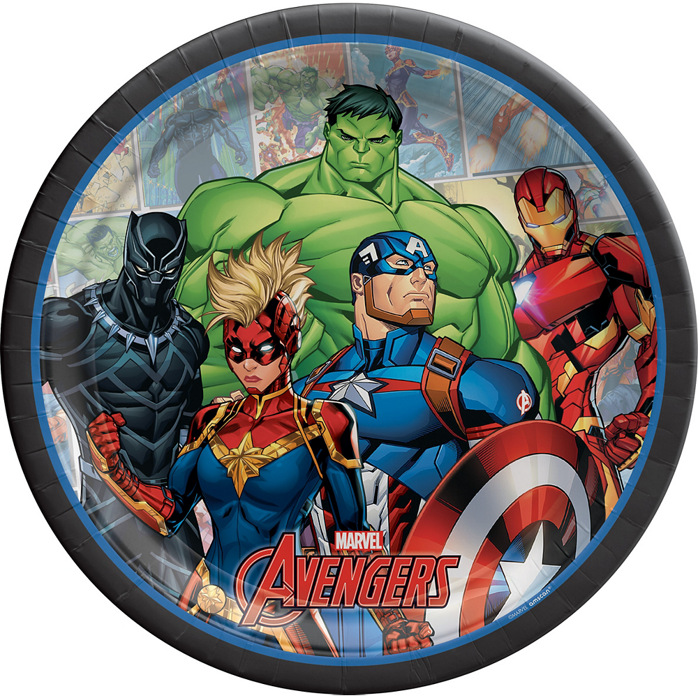 Marvel Powers Unite Lunch Plates 8ct Image #1