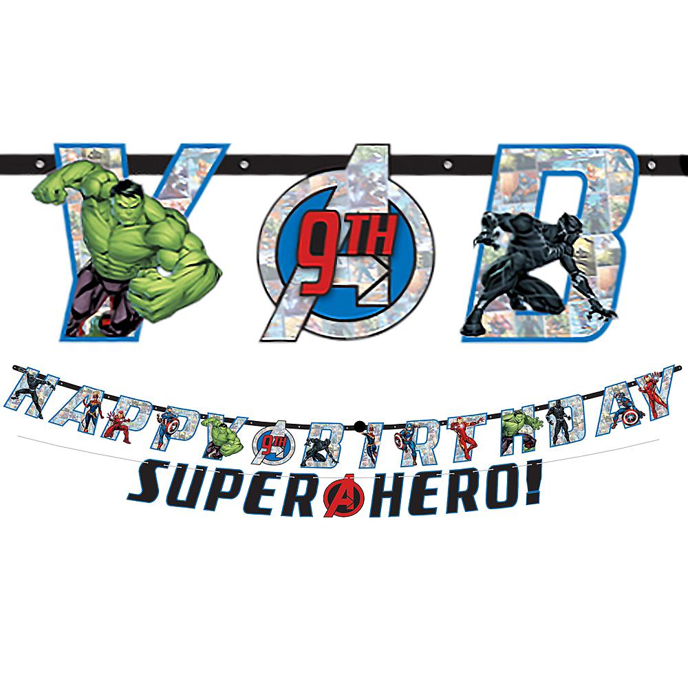 Marvel Powers Unite Personalized Birthday Banner Kit 2ct Image #1
