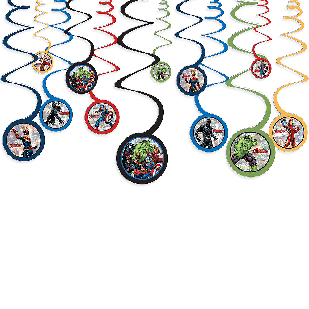 Marvel Powers Unite Swirl Decorations 12ct Image #1