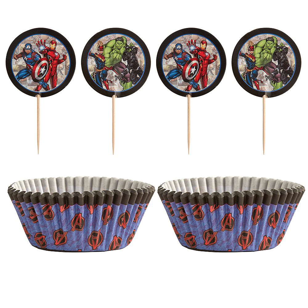 Marvel Powers Unite Cupcake Decorating Kit for 24 Image #1