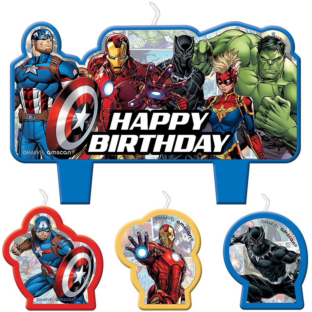 Marvel Powers Unite Birthday Candles 4ct Image #1