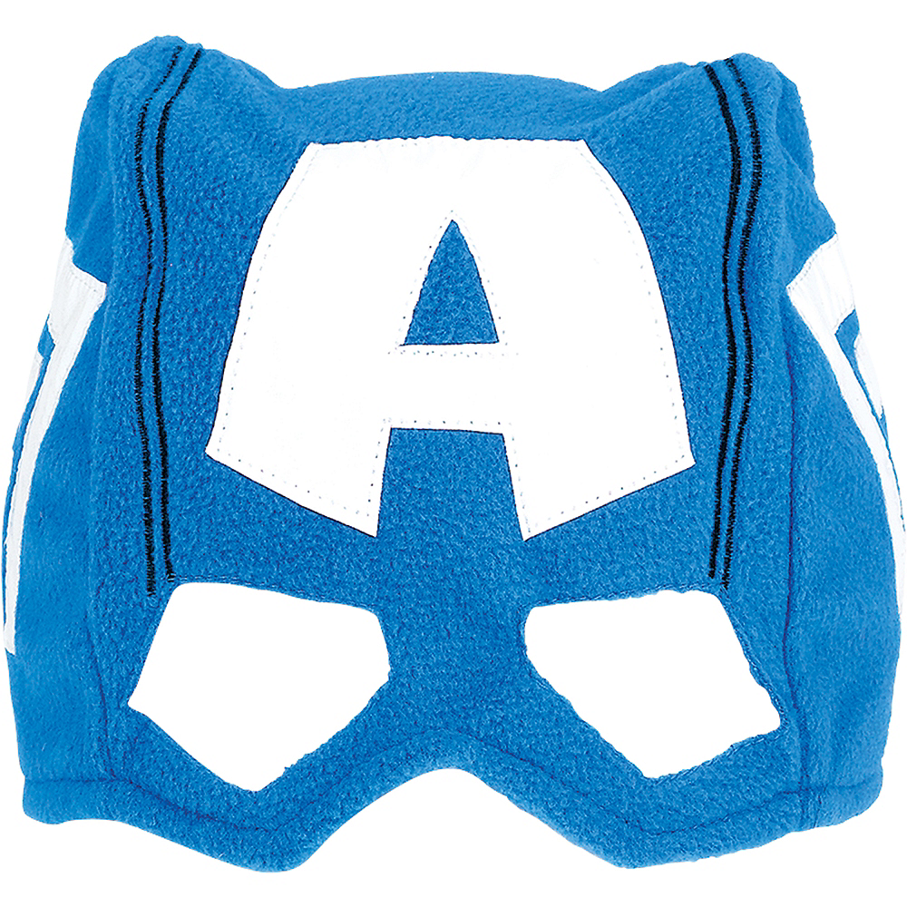 Child Marvel Powers Unite Captain America Mask Hat Image #1