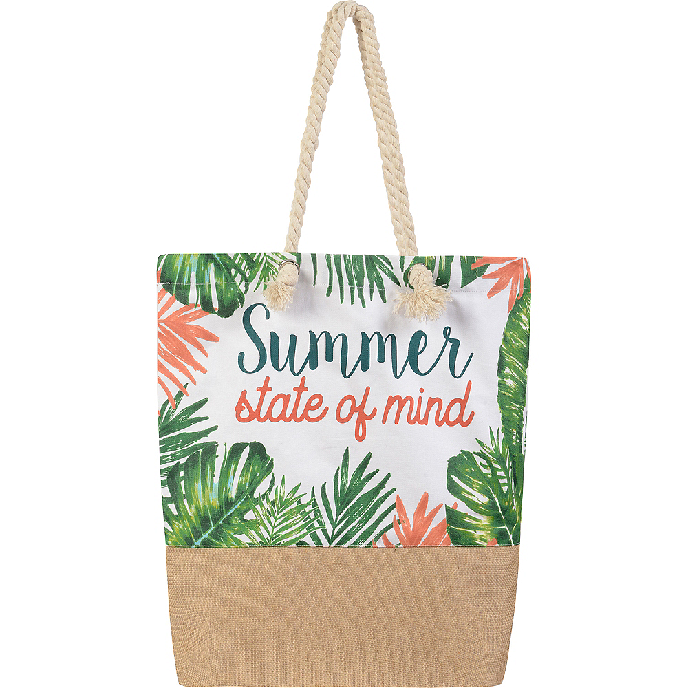 Summer State of Mind Tropical Tote Bag Image #1