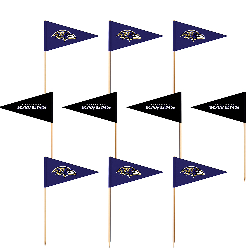 Baltimore Ravens Flag Picks 36ct Image #1