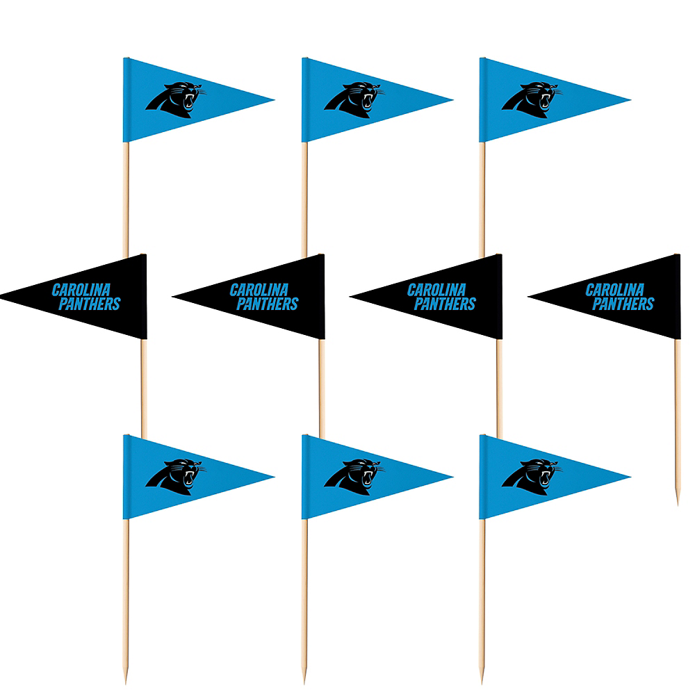 Carolina Panthers Flag Picks 36ct Image #1