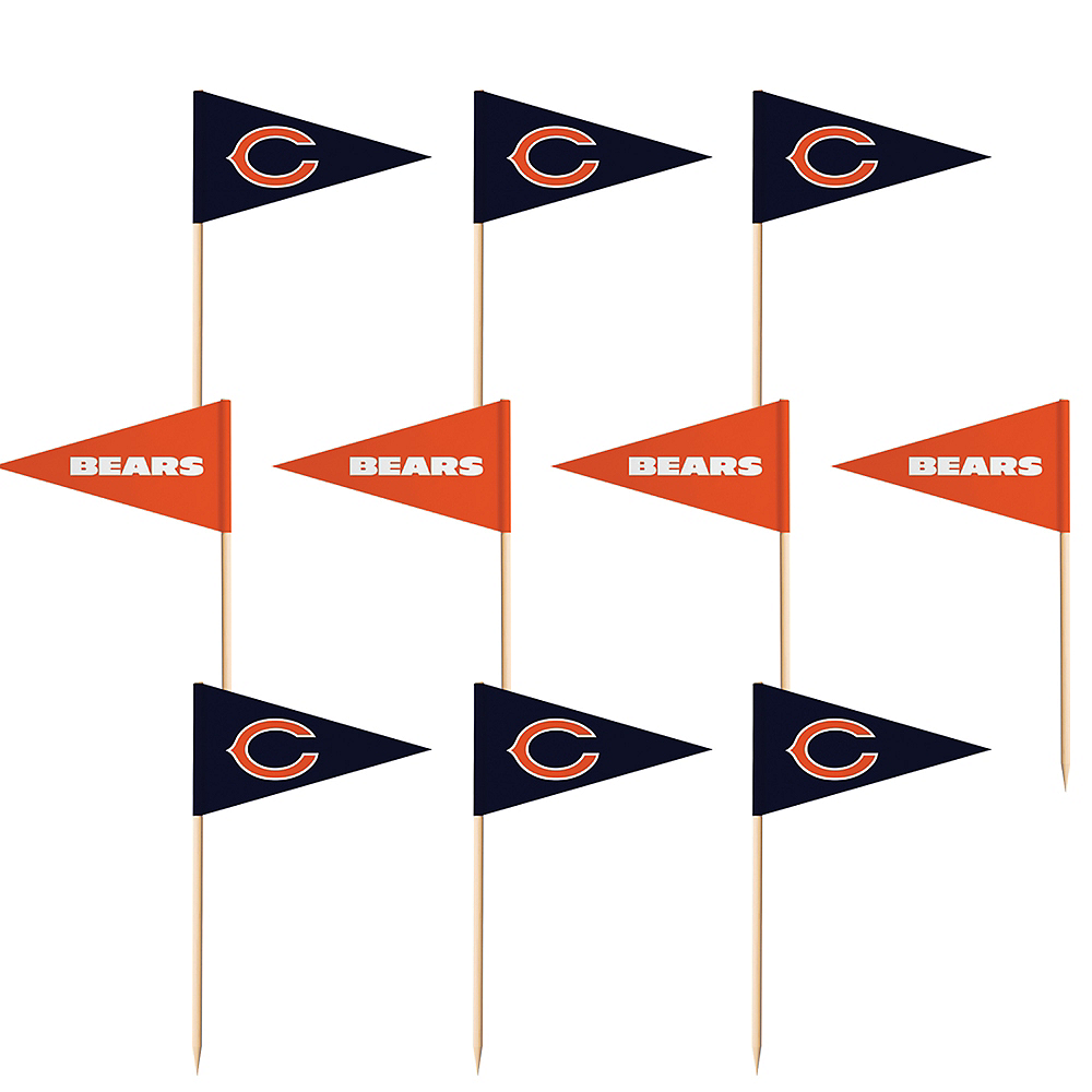 Chicago Bears Flag Picks 36ct Image #1