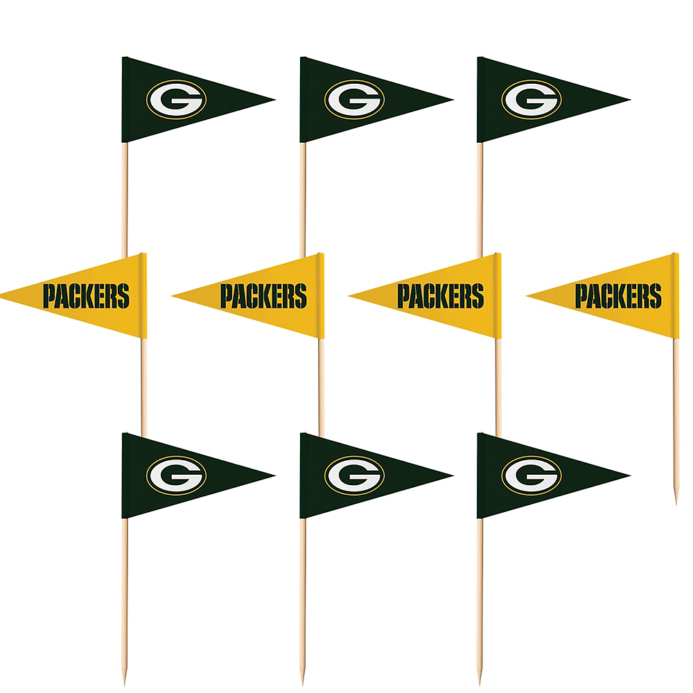 Green Bay Packers Flag Picks 36ct Image #1