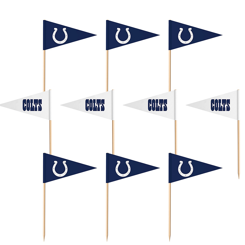 Indianapolis Colts Flag Picks 36ct Image #1
