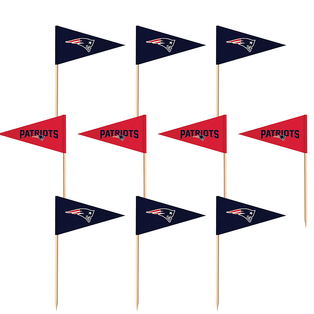 Nav Item for New England Patriots Flag Picks 36ct Image #1
